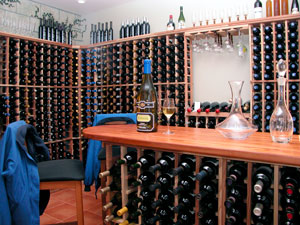 Picture of a wine cellar.